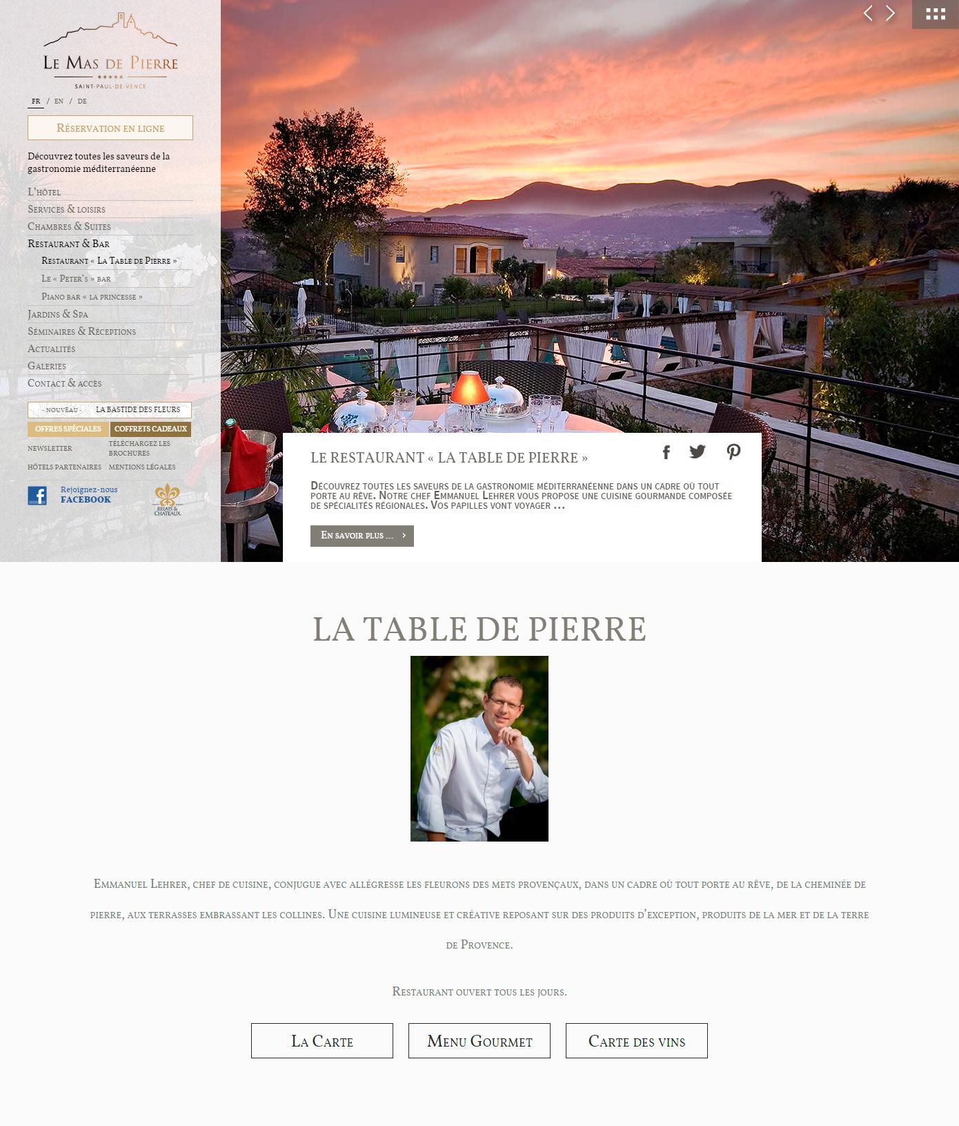Le Mas de Pierre Relais & Châteaux 5*