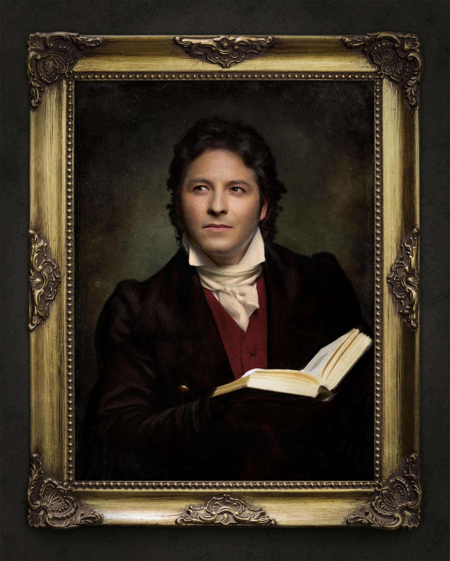 Diego Saavedra tenor portrait d'art