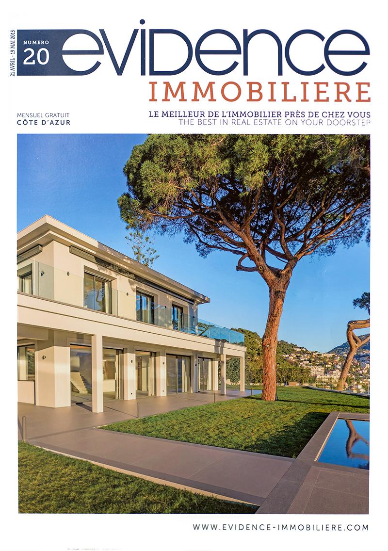 Premi re page du magazine immobilier sur la c te d 39 avril for Avril immobilier