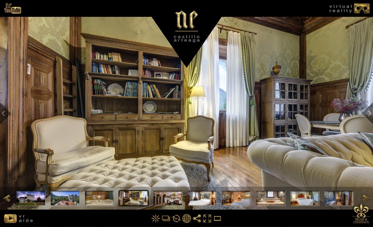 Virtual tour 360° Castillo de Arteaga, Relais & Châteaux by Thierry Russo-Delattre